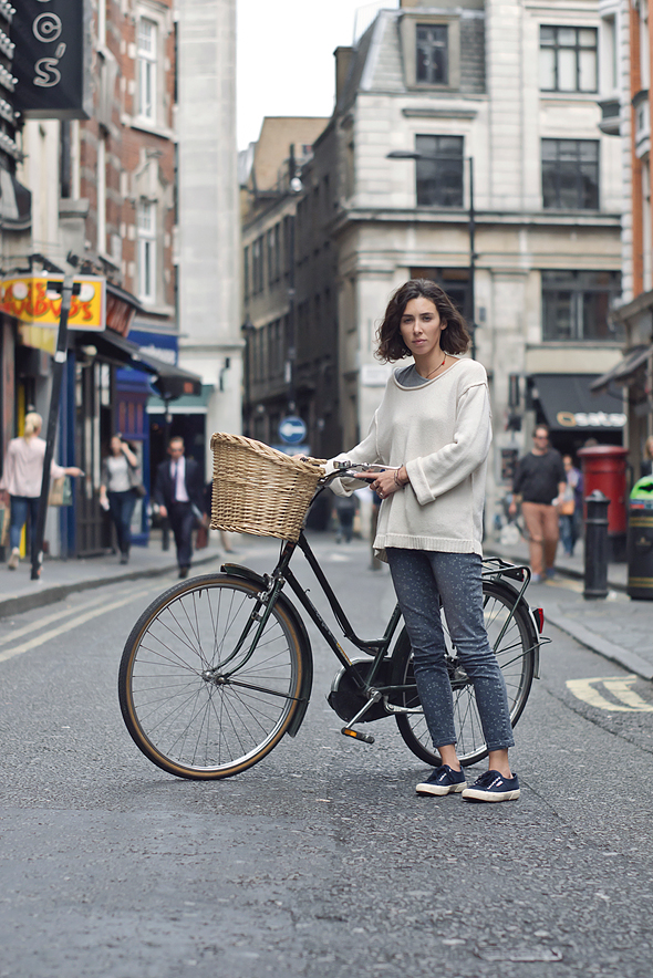 girl with bike in london