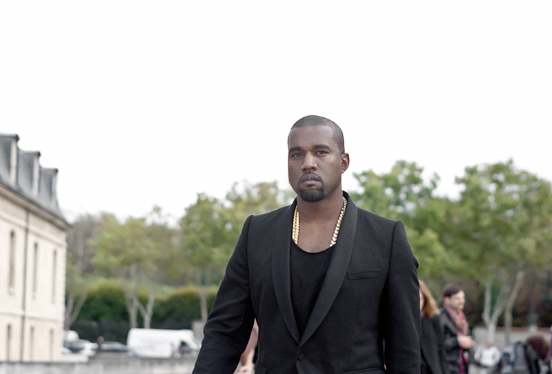 kanye west at dior paris fashion week