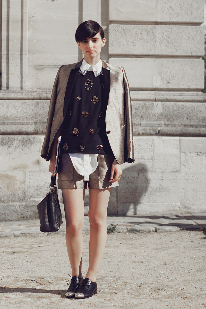 Anne-Catherine Frey after Dior, Paris Fashion Week