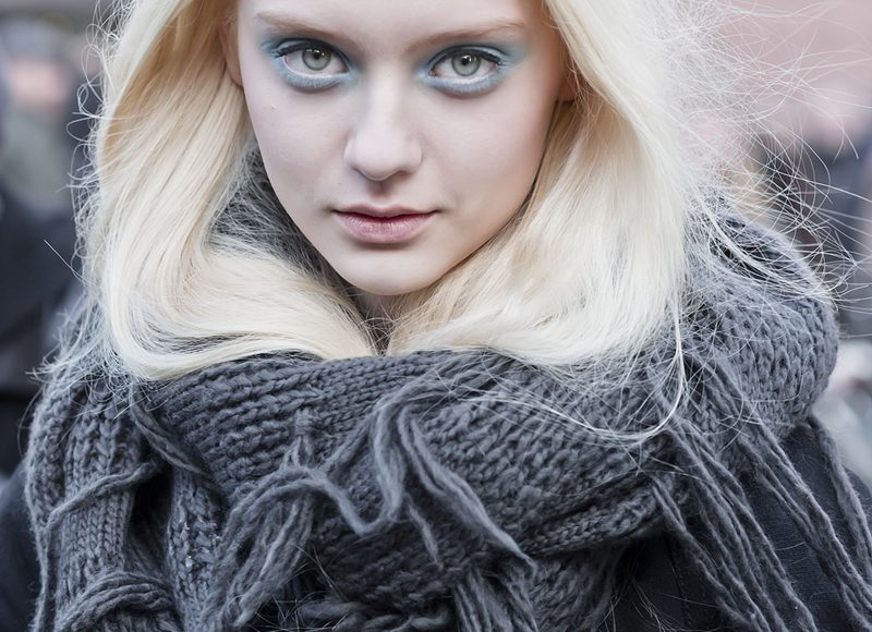 Nastya Kusakina at London Fashion Week