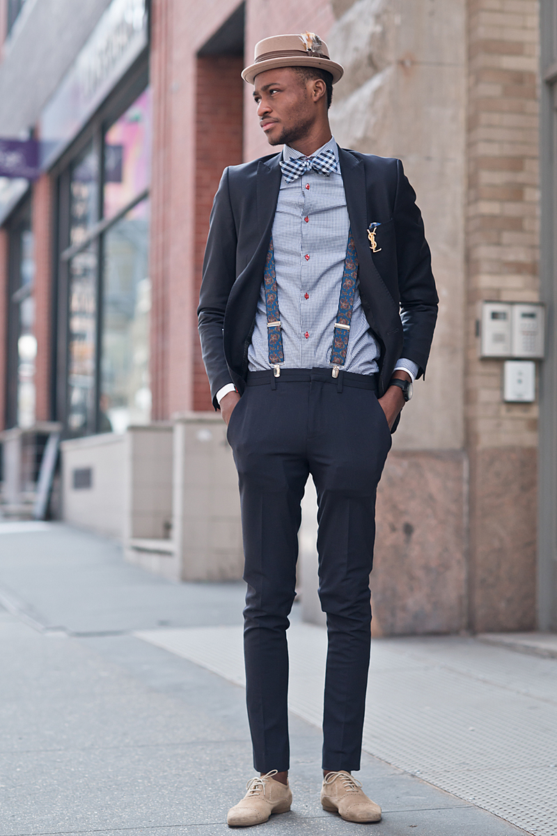 Men Street Style with Suspenders