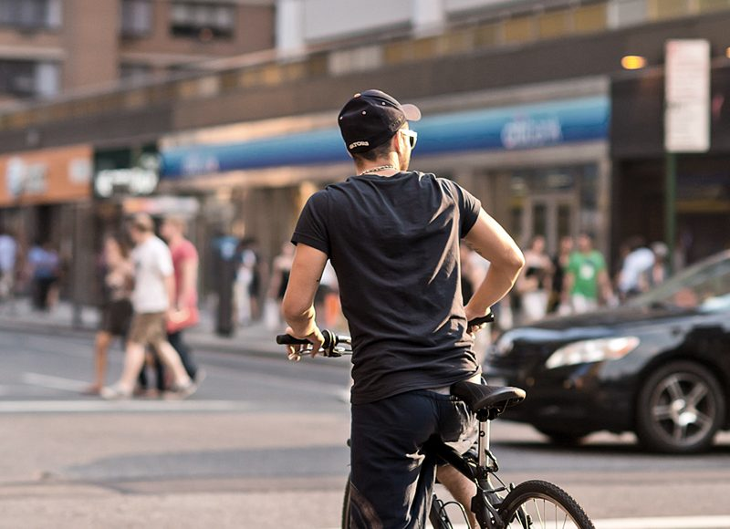 new york men bicycle