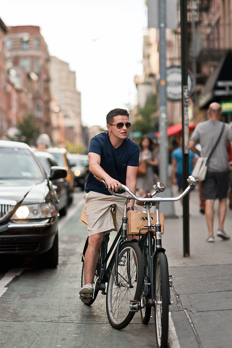 street style men bicycle