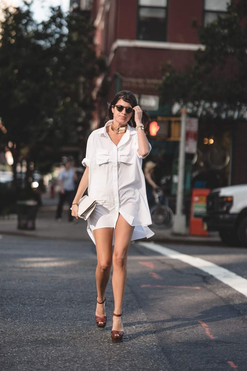 leandra medine of man repeller wearing christopher kane