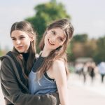 Vivienne Rohner and Jessica Burley - models off duty