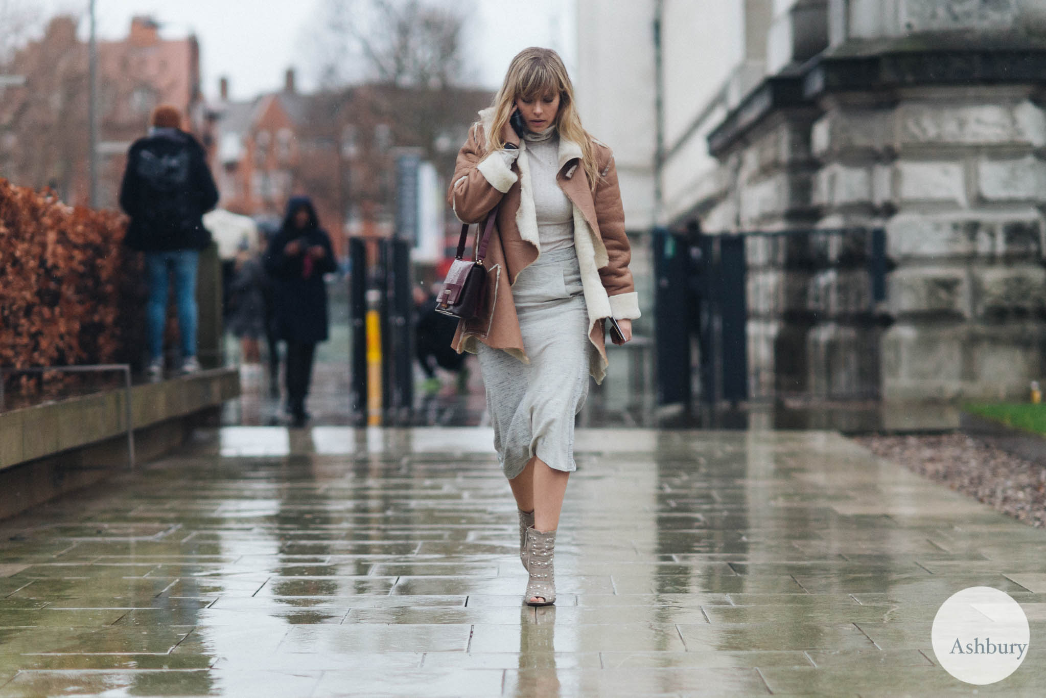 street style in the rain london