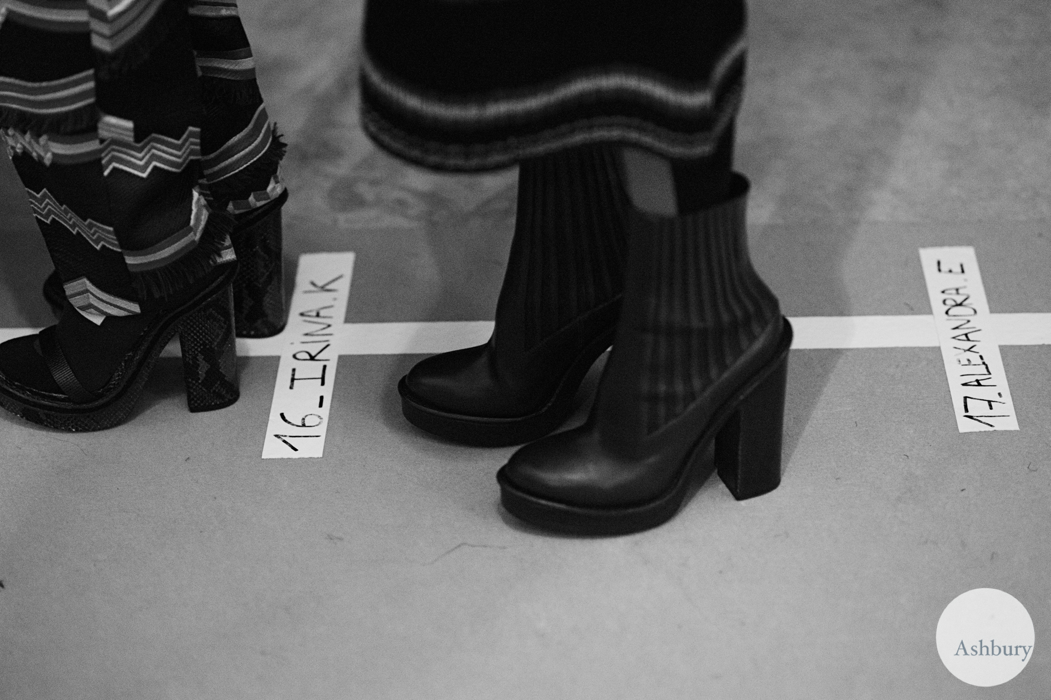 kenzo backstage fall/winter 2015 - shoes