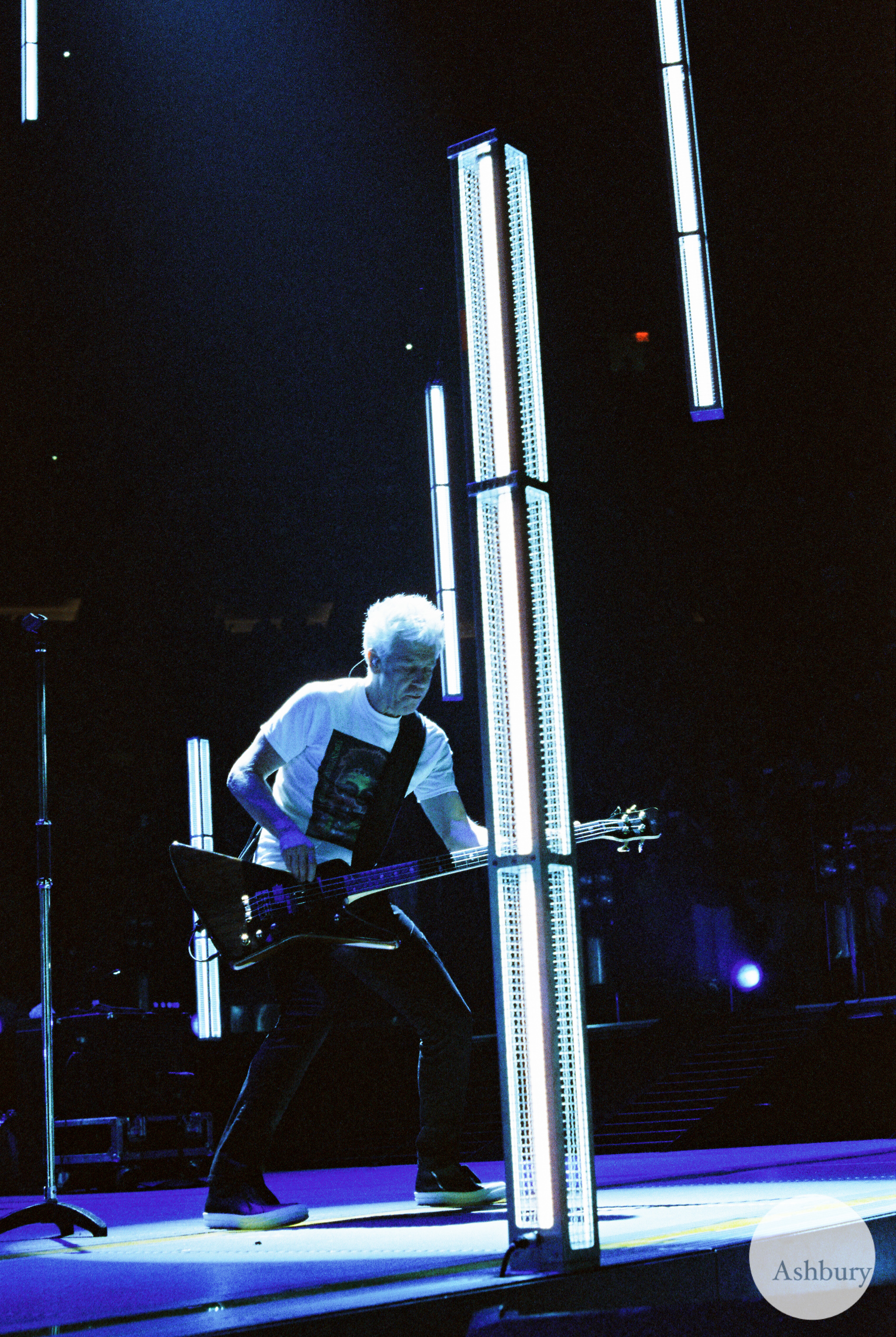 adam clayton of U2 u2ie tour MSG 07/19 cinestill 800
